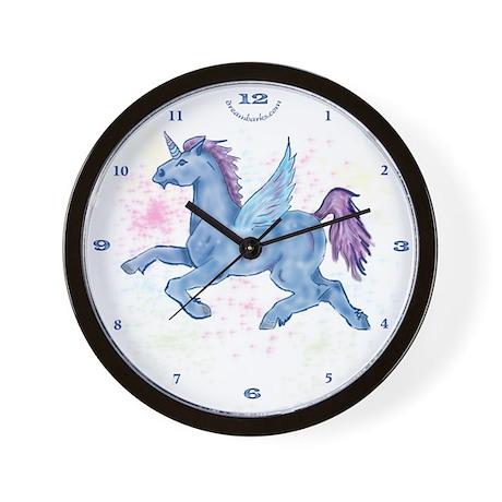 Winged Unicorn BLU Wall Clock