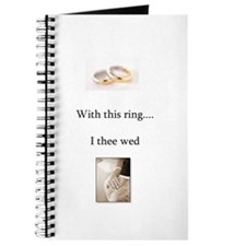 Funny Wedding vows Journal