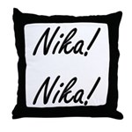 Nika! Nika! Throw Pillow