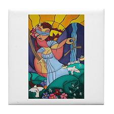 Lady Justice Tile Coaster