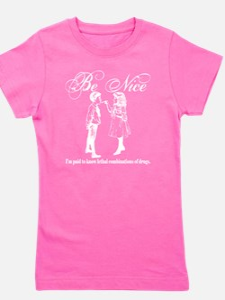 Be-Nice-whiteonblack Girl's Tee