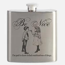Be-Nice-blackonwhite Flask
