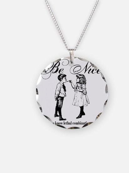 Be-Nice-blackonwhite Necklace