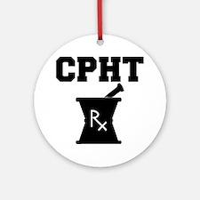 CPHT-2-blackonwhite Round Ornament