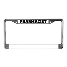 Pharmacist-3---blackonwhite License Plate Frame