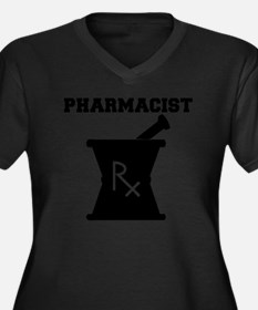 Pharmacist-4 Women's Plus Size Dark V-Neck T-Shirt