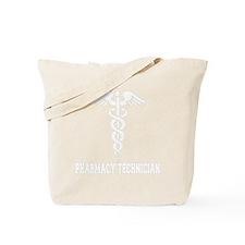 Pharmacy-Technician-1---whiteonblack Tote Bag