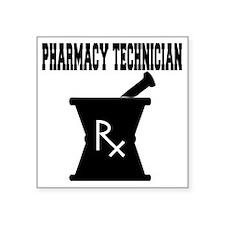 "Pharmacy-Technician-3--blac Square Sticker 3"" x 3"""