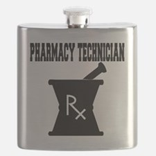 Pharmacy-Technician-3--blackonwhite Flask