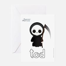 TOD PJ white Greeting Card