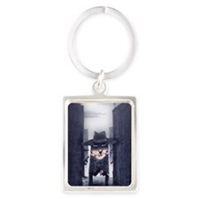 Blood and Shadows Portrait Keychain