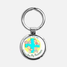 NICU Nurse Round Keychain