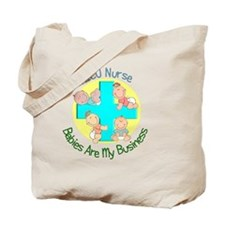NICU Nurse 2012 4 babies Green Tote Bag