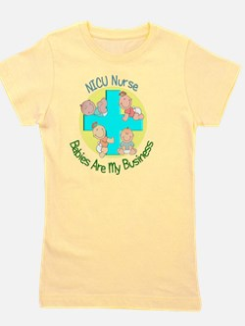NICU Nurse 2012 4 babies Green Girl's Tee