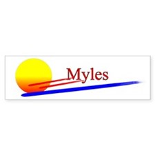Myles Bumper Car Sticker