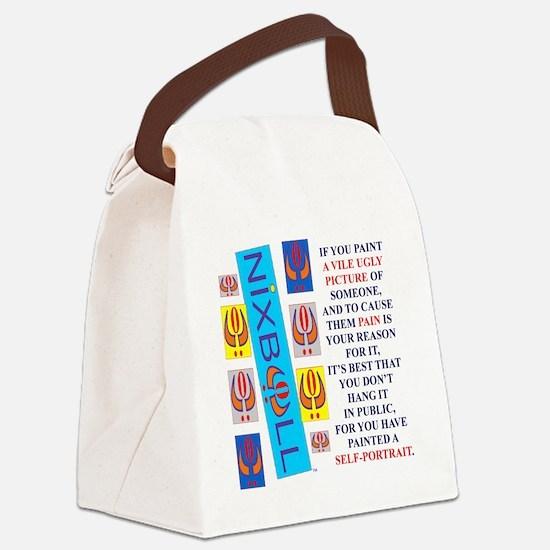 SELF PORTRAIT FINAL 2 Canvas Lunch Bag