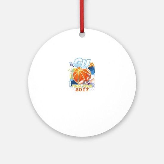 GU Final Four 2017 Basketball Round Ornament
