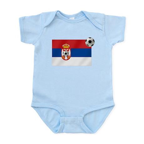 Serbian Football Flag Infant Bodysuit