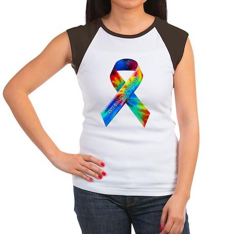tiedye-justribbon Women's Cap Sleeve T-Shirt