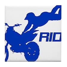 Ride Blue Tile Coaster