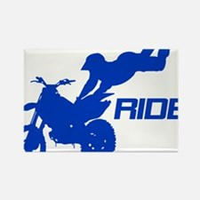 Ride Blue Rectangle Magnet
