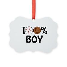 100% Boy Ornament
