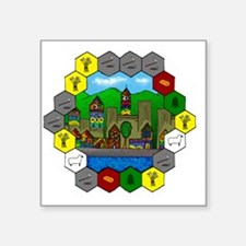 "Untitled - 1 Square Sticker 3"" x 3"""
