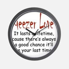 Geezer Love lifetime Wall Clock