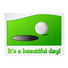 Its a Beautiful Day - Golf 5'x7'Area Rug