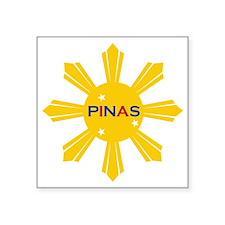 "Pinas Square Sticker 3"" x 3"""