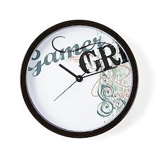 Gamer girl grunge Wall Clock