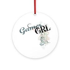 Gamer girl grunge Round Ornament