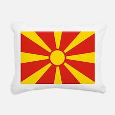 Macedonia Flag Rectangular Canvas Pillow