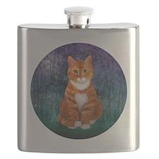 Orange Tabby Cat Flask