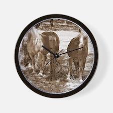 Haflinger Black  White Wall Clock