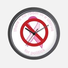 Pro_Choice_RoundPinkBLK Wall Clock