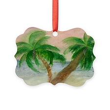 Twin Palms Ornament