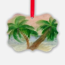 Twin Palms Ornament