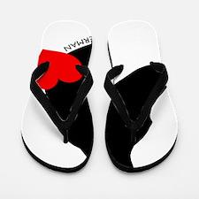 heartsilhouette3 Flip Flops
