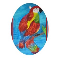 Pretty Parrot Oval Ornament