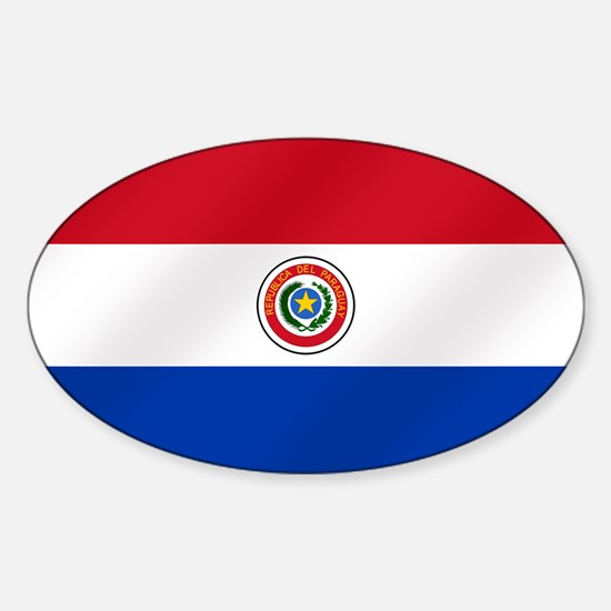 Flag of Paraguay Sticker (Oval)