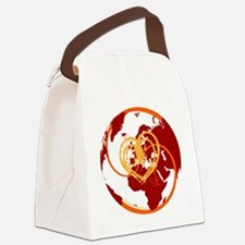I Heart Adventure - Red Canvas Lunch Bag
