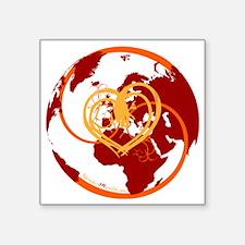 """I Heart Adventure - Red Square Sticker 3"""" x 3"""""""