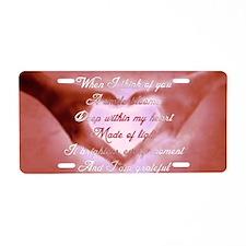 HeartBloom Aluminum License Plate