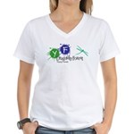Young Friends of the Forest Women's V-Neck T-Shirt