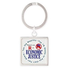 ECONOMIC JUSTICE.gif Square Keychain