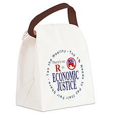 ECONOMIC JUSTICE.gif Canvas Lunch Bag