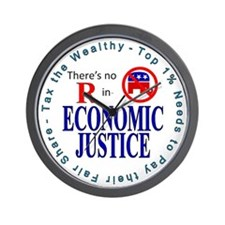 ECONOMIC JUSTICE.gif Wall Clock