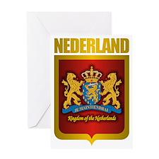 Nederland Gold Greeting Card