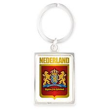 Nederland Gold Portrait Keychain